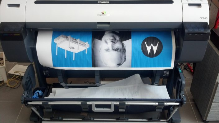 First poster is being printed