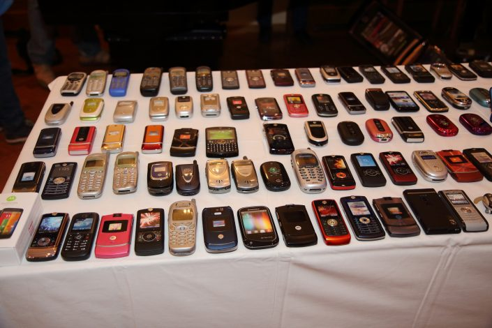 Collection of dummy cellphones