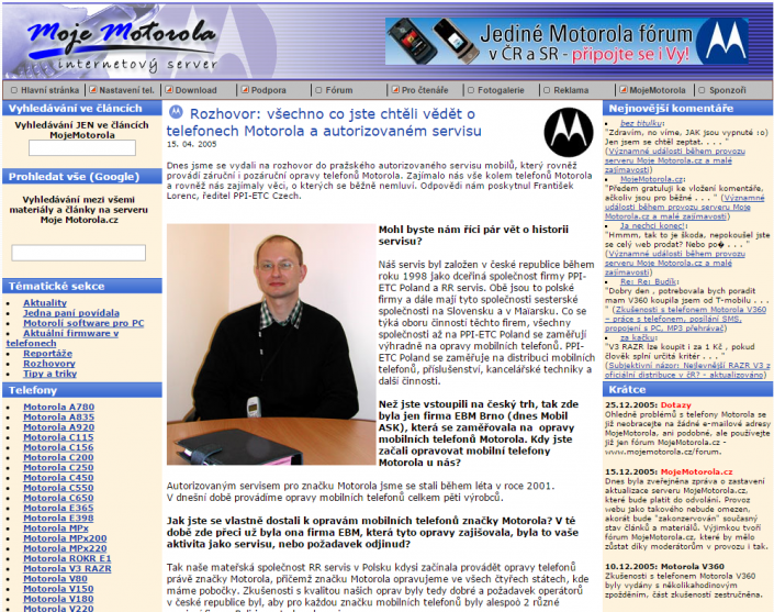 MojeMotorola.cz (2005)