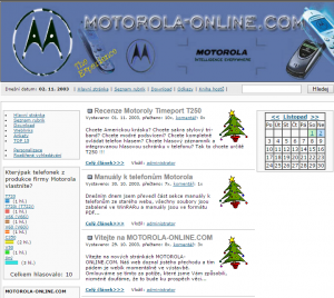 Very first design of new Motorola-online.com website (end of 2003)