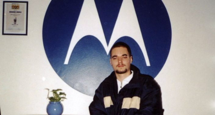 Visiting Motorola office in Prague (Jan, 2004)
