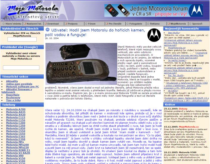 MojeMotorola.cz článek od čtenáře z roku 2004