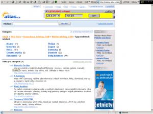 O mizivé popularitě telefonů značky Motorola v ČR tehdy svědčil i počet webových stránek v porovnání s ostatními značkami - stav z června 2004