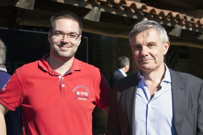 Společně s Denis Allard - viceprezidentem Iridium NEXT Projektu z firmy Thales Alenia Space (foto: Pavel Mašek)
